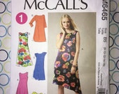Uncut McCall's Pattern no. M6465 Size 8 10 12 14 16 - Sleeve, Hemline & Length Variations - circa 2011