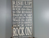 Rock of Ages - Def Leppard - Song Lyrics - Gray with White Letters