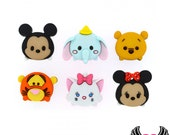Disney TSUM TSUM Mickey Minnie Pooh Tigger Dumbo Heads Dress It Up Licensed Jesse James Buttons Or Turn them into Flatback Cabochons (#206)