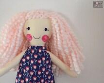small modern rag doll: Libby, Rosey Rag Doll