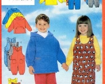 Very Easy Toddler Children's Sweatshirt, T op, Jumpsuit & Pants Pattern- Size 2, 3, 4 - Butterick 5164 uncut