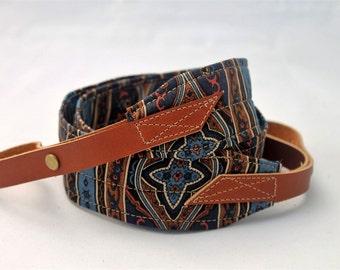 Colorodo Cobalt Banjo Strap with Leather Adjustable Ends