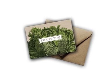 Lettuce Thank You Cards