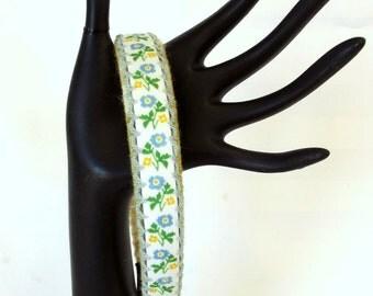 Flower Fabric Hair Accessory - Spring Flower Headband - Vintage Headband - Embroidered Hair Band