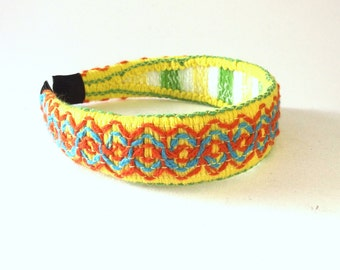 Retro Fabric Headband - Boho Style Hair Band - Vintage Hair Accessory - Embroidered Hair Accent