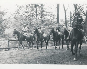 Wissahickon Day - Vintage 1950s Philadelphia Equestrians Photograph