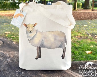 Sheep Tote Bag, Ethically Produced Reusable Shopper Bag, Cotton Tote, Shopping Bag, Eco Tote Bag