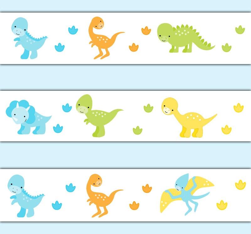 Dinosaur Wallpaper Border Decal Wall Art Baby Dino Nursery