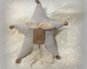 Jingle Bell Star Ornament Linen