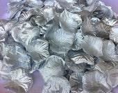 100 Silver Petals Pre-Separated Faux Silk Table Scatter Petals Polyester Silver Rose Petals Petals Flower Petals Silver Petals