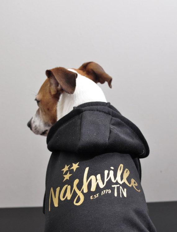 Pet Hoodie - Nashville, Tennessee Black & Gold