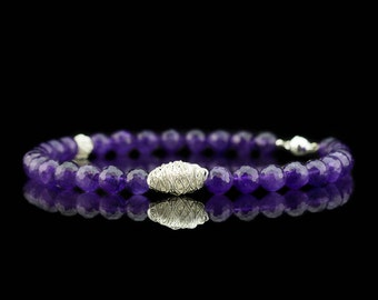 NESTS AND AMETHYSTS | Necklace with Sterling Silver sculptures *Free Shipping*