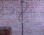 Minimalist Floor Lamp - Industrial Lamp - Edison Bulb Light - Steampunk Lamp - Standing Lamp