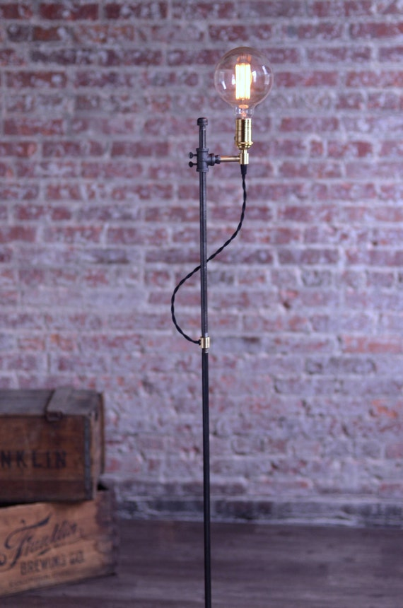 floor lamp industrial lamp edison bulb light steampunk lamp. Black Bedroom Furniture Sets. Home Design Ideas