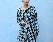 Houndstooth bolero/shrug/cardigan