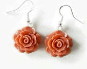 Rose earrings Sterling silver earrings gift idea for her Delicate pink floral earrings nickel free bridesmaid flower jewelry gift