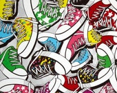 Tennis Shoes Cotton Flannel Fabric, by the half yard - Sneakers, Gym Shoes, Exercise, Jogging, Running