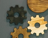 Gears - Wood Gears - Gear Wall Art - Industrial Decor