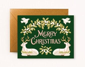 Reindeers Merry Christmas Card