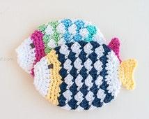 Fish Scrubbie Washcloth Crochet Pattern