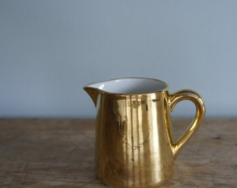 Gold Lustre Creamer by Royal Worcester