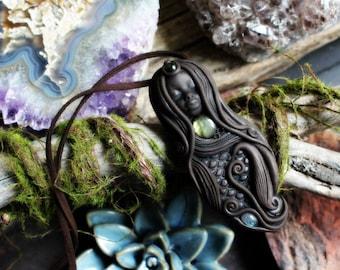 Mermaid Necklace, Labradorite Ocean Necklace.