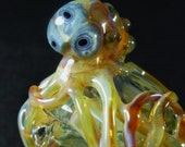 The Toxic Avenger /// Mutant Octopus with 3 eyes color changing glass tobacco critter pipe /// W