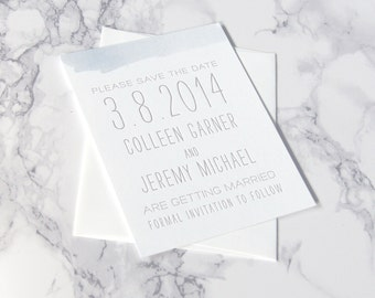 LETTERPRESS SAMPLE | Letterpress Save the Date | Save the Date without Photo | Watercolor Save the Date | Beach Save the Date