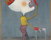 """Original Acrylic Painting by Jacquline Hurlbert. Title: """"Eating Matches"""""""