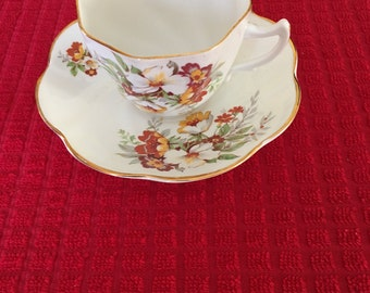 Lovely  Crownford Tea Cup Vintage fall colors
