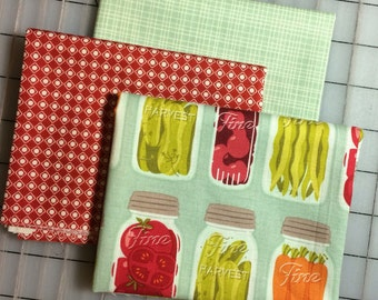 Riley Blake  - Set of 3 Fat Quarter cuts - Farm Girl - by October Afternoon - #68  100% cotton