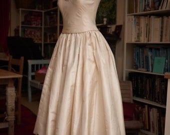 Wedding Dress, fine cream silk