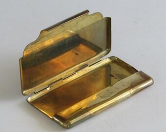 Brass Business Card Holder - Vintage Accessory