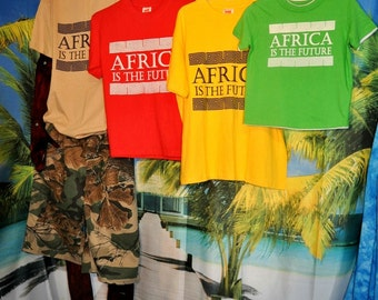 """FREE SHIPPING: Kids T """"Africa is the Future"""" various colours"""