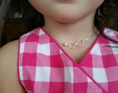 Child Size - Pearl and Infinity Necklace - Flower Girl Necklace, Girl Jewelry, Wedding Gift, Kindergarted Gift, Pearl Necklace