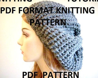 PDF KNITTING PATTERNS Instant Download Slouchy Mesh Lace Oversized  Berets Beanie Spring Winter Accessories Women