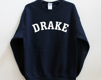 DRAKE Graphic Print Unisex Sweatshirt