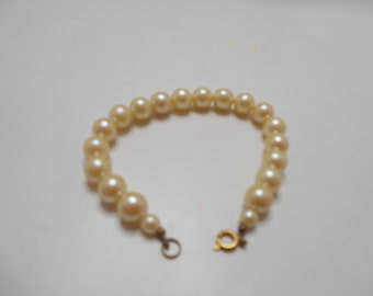 Vintage Faux Pearl Bracelet (3703) 6mm & 10mm