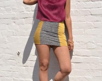 Knit Jersey Mini Skirt