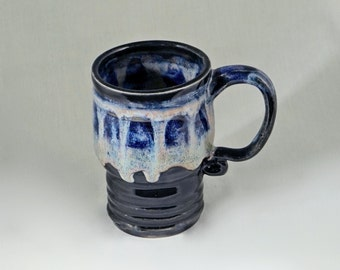 Large Handmade Pottery Coffee Mug, Gifts for Him, Father's Day Gift,  hand thrown stoneware coffee mug