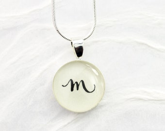 Initial Necklace, Monogram Necklace, Personalized Jewelry, Gift for Her, Whimsical Initial Pendant, Unique, Handmade, Bliss In Art