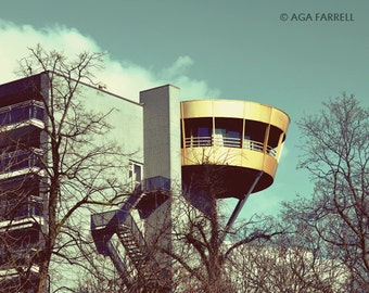 Urban Art, City Photography, Modern Art Print, Architecture Art, Travel Photography, Teal and Gold, Urban Photography