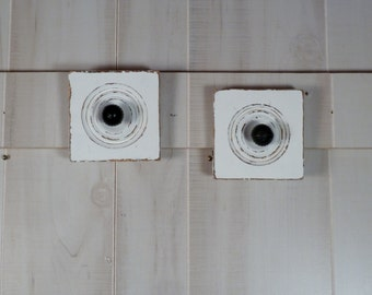 Architectural Salvage Wood Wall Hook Set Coat Racks Wall Decor