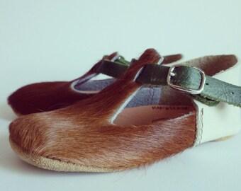 Ponyhair maryjane softsoled baby shoe