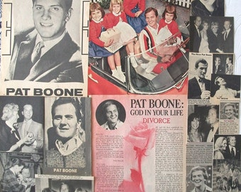 PAT BOONE ~ April Love, Don't Forbid Me, Love Letters In The Sand, Moody River ~ Color and B&W Clippings, Articles, Pin-Ups from 1961-1978