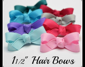 Mini Hair Bows, Baby Girl Hairbow Clips, Baby Girl Bow Clip, Hair Bows, Baby Hair Bows, Baby Snap Clip Bows, Hair Bow, Baby Snap Clip Bow