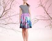 Watercolors - skater dress