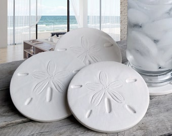 Sand Dollar Drink Coasters,  AbsorbentCoasters, Beach House, Barware