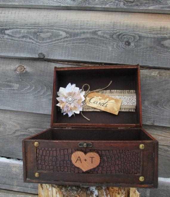 Rustic Wedding Gift Card Holder : Rustic Wedding Card Box Rustic Wedding Trunk Card Holder