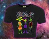WHATEVER 90s Cartoon Alien Babes Crop Top // MTV Nickelodeon Jane Lane Cynthia Doll // fASHLIN